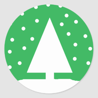 Snowing Tree Stickers (Green)