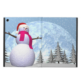 Snowman - 3D render Cover For iPad Air