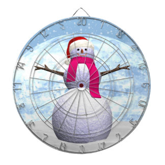 Snowman - 3D render Dartboard