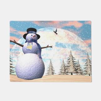 Snowman - 3D render Doormat