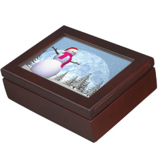 Snowman - 3D render Keepsake Box