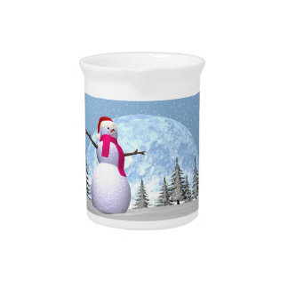 Snowman - 3D render Pitcher