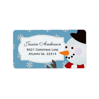 Snowman Address Stickers Address Label