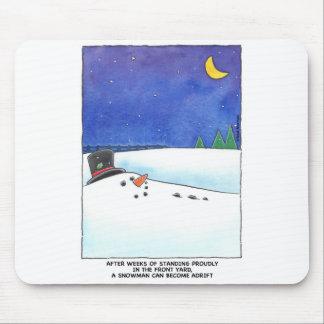 Snowman Adrift Mouspad Mouse Pad
