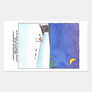 Snowman Adrift Stickers
