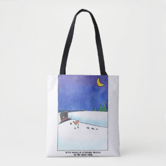 Snowman Adrift Tote Bag
