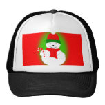 Snowman and Candy Cane Mesh Hat