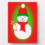 Snowman and Candy Cane Plaques