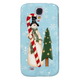 Snowman and Christmas Tree  Galaxy S4 Cases