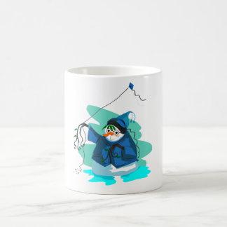 Snowman and Comet Coffee Mug