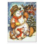 Snowman and Dog Card