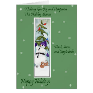 Snowman and Friends Card
