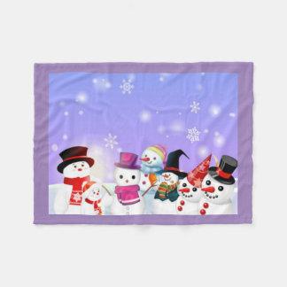 Snowman and Friends Fleece Blanket
