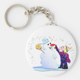 snowman and his girl keychains