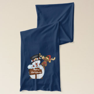 Snowman and Reindeer Scarf