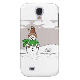 Snowman and Snowdog Samsung Galaxy S4 Case