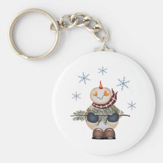 SNOWMAN AND SNOWFLAKES KEY CHAIN