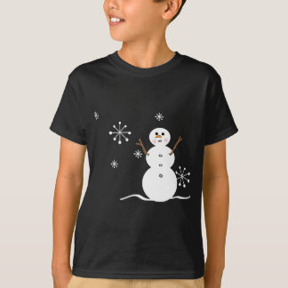snowman and snowflakes T-Shirt