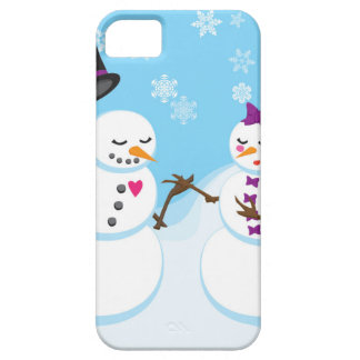 Snowman and Snowgirl Romance Case For The iPhone 5