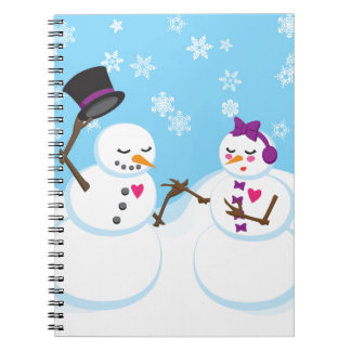 Snowman and Snowgirl Romance Notebooks