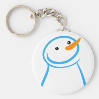 Snowman and Steve Sketch Key Ring