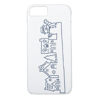Snowman at Holy Night iPhone 8/7 Case