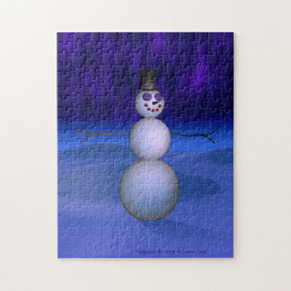 Snowman at Night Puzzles