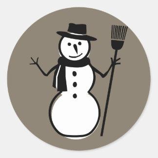 Snowman, Bernie Taupe Stickers