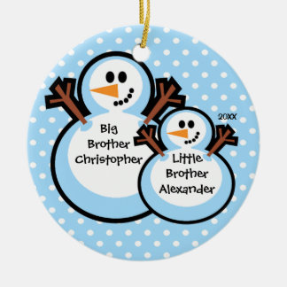 Snowman Big & Little Brother Christmas Ornament