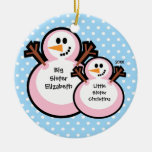 Snowman Big Sister Christmas Ornament