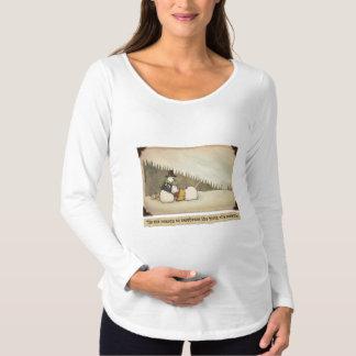 Snowman Birth Maternity Long Sleeve T-Shirt