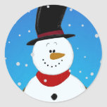 Snowman - Blue Stickers