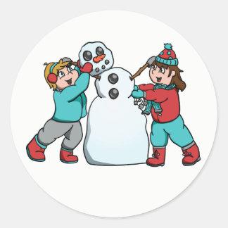 Snowman Builder Sticker