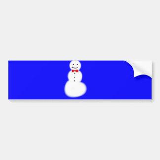 Snowman Bumper Sticker Car Bumper Sticker