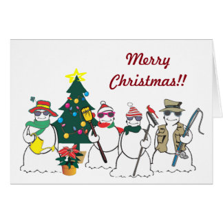 snowman business greeting  Card