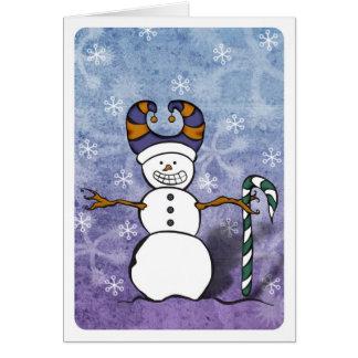 Snowman Candy Cane Card