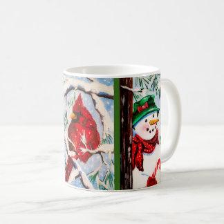 Snowman & Cardinal friends Cup
