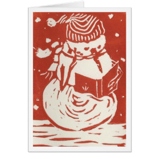 Snowman Caroler Card