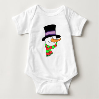 Snowman Cartoon Baby Bodysuit