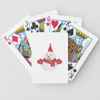 Snowman cartoon bicycle playing cards