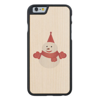 Snowman cartoon carved maple iPhone 6 case