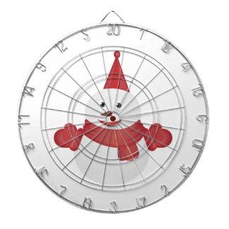 Snowman cartoon dartboard