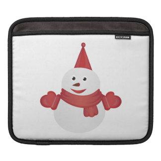 Snowman cartoon iPad sleeve