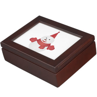 Snowman cartoon keepsake box