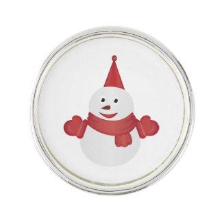 Snowman cartoon lapel pin
