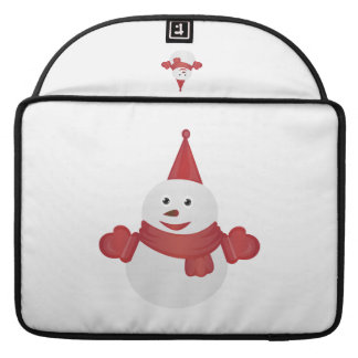 Snowman cartoon MacBook pro sleeves