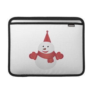 Snowman cartoon MacBook sleeve