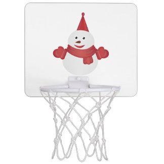 Snowman cartoon mini basketball hoop
