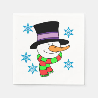 Snowman Cartoon Paper Napkins Disposable Napkin