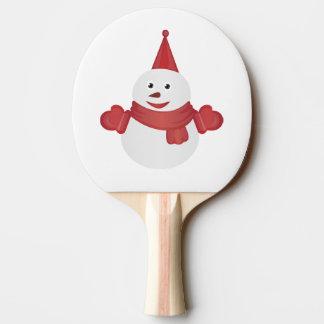 Snowman cartoon ping pong paddle
